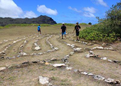 Un labyrinthe trouvé par hasard sur le sentier
