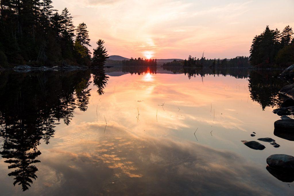 Couché de soleil au Lac des Iles