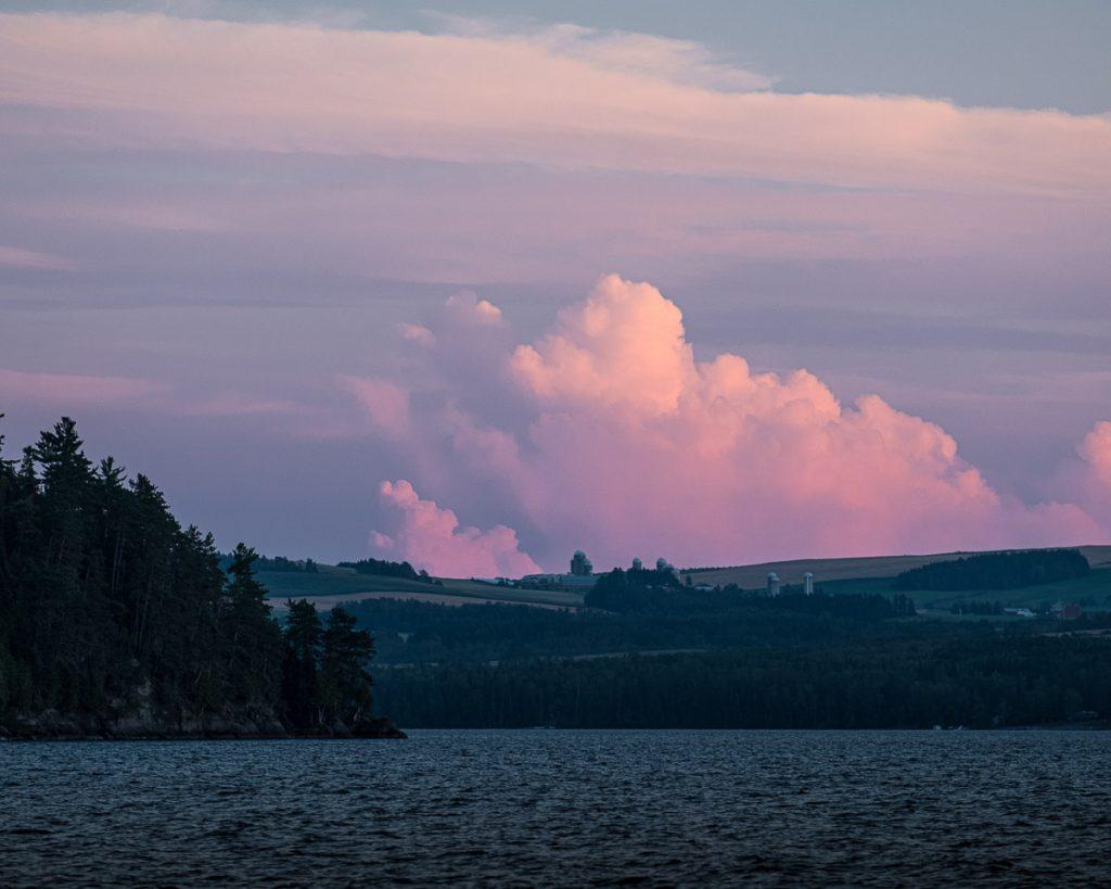 Couché de soleil sur le lac Témiscouata